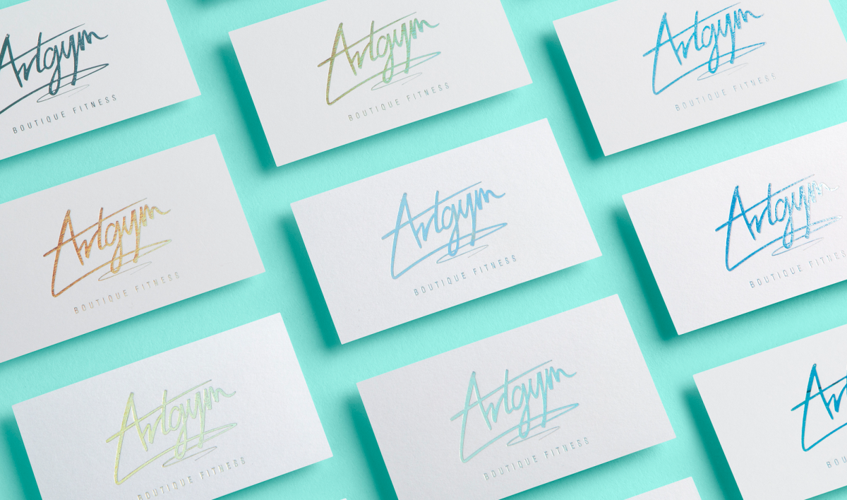 Artgym carla mckee moon unit hologram foil business card magicingreecefo Image collections